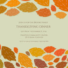 lovely leaves borders free printable thanksgiving invitation