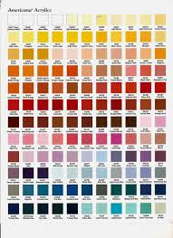 americana acrylic paint color chart jpg color mixing pinterest