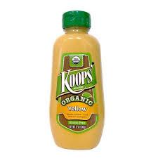 koops mustard koops organic yellow mustard gluten free grain free refined