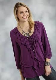 purple blouses roper purple ruffled peasant blouse