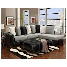 Living Room Black Leather Sofa Brown And Black Furniture Zamp Co