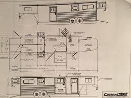 cimarron horse trailer floor plans image gallery hcpr cimarron trailers floor plan living quarter horse