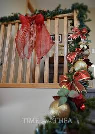 how to decorate a banister for christmas time with thea