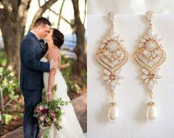 gold bridal earrings chandelier gold wedding earrings chandelier bridal earrings