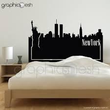 Headboard Wall Sticker by Wall Decal New York Skyline Headboard Interior Bedroom Decor