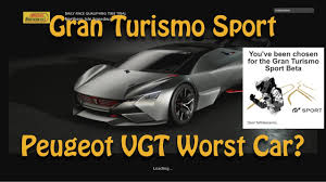 new peugeot sports car gran turismo sport beta new car unlocks peugeot vgt worst car in