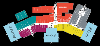 University Of Michigan Parking Map by Mall Map Of University Park Mall A Simon Mall Mishawaka In