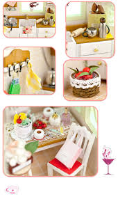 Diy Dollhouse Furniture Online Shop Miniature Cozy Kitchen Craft Model Wood Dollhouse