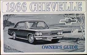 1966 chevelle reprint owner manual el camino ss ss 396 300 malibu