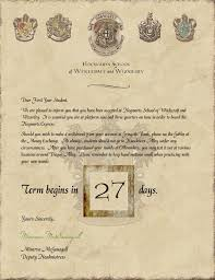 this harry potter hogwarts acceptance letter countdown to
