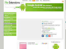 android file associations android file extensions