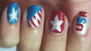 tutorial 4th of july nail art youtube