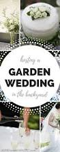 hosting a diy garden wedding in the backyard
