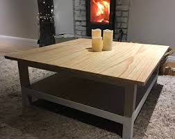 rustic square coffee table rustic coffee table etsy