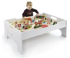 wooden train set table 80 piece deluxe wooden train set and table only 64 99 shipped reg