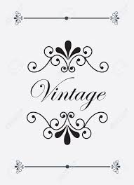 vintage and ornaments label over white background vector