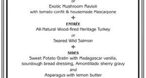thanksgiving dinner 315 restaurant wine bar events calendar