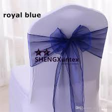 navy blue chair sashes navy blue chair sash organza chair sash used for wedding chair