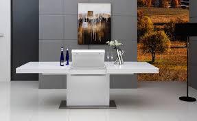White Gloss Extendable Dining Table Modrest Zenith Modern White Extendable Dining Table Modern