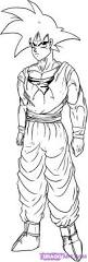 how to draw goku step by step dragon ball z characters anime