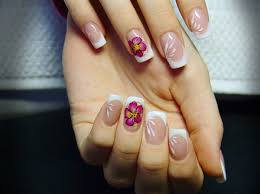 70 ideas of french manicure white polish hibiscus flowers and
