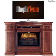 hermes cherry wood media center electric fireplace wall mantel tv