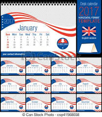 vectors of desk triangle usa flag calendar 2017 template size