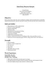 Program Specialist Resume Data Entry Resume Sample No Experience Data Entry Resume Template