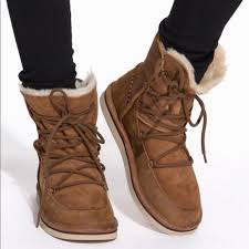 68 ugg shoes ugg lodge chestnut lace up boot from hallie s