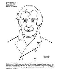 presidents day printable coloring pages usa printables president zachary taylor 12th president of the
