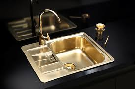 Gold Brass Finish Kitchen Sink Stainless Steel UK Alveus - Brass kitchen sink
