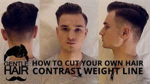 short hairstyles with weight lines blended in how to cut your own hair for men contrast weight line 2015