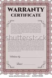 warranty template stock images royalty free images u0026 vectors