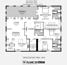 the block sky high floorplan by planit2d interior design