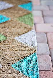 Painting An Outdoor Rug 19 Best Outdoor Rug Images On Pinterest Painted Rug Diy Rugs