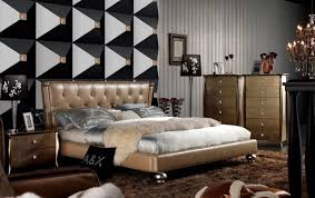 high end contemporary bedroom furniture armani xavira chagne italian top leather bed with tufted