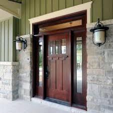 Wide Exterior Door Bungalow 7218 With 9541 Dentil Shelf View Door Detail Print