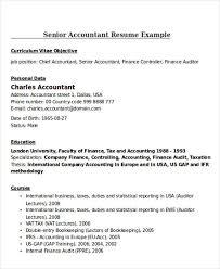 Tax Accountant Job Description Resume by 24 Accountant Resume Templates Download Free U0026 Premium Templates