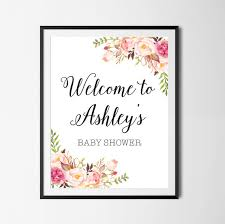 baby shower welcome sign baby shower welcome sign boho floral baby shower sign