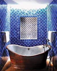 in cobalt blue tiles isnt it soothing very spa like source