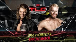 wwe 2k16 ps4 british bulldog vs x pac vs rikishi full match wwe 2k16 edge vs christian tlc match ps4 gameplay youtube