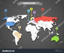 World Map Image World Map Infographic Template All Countries Stock Vector