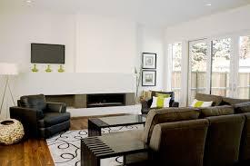 livingroom calgary fifth element concrete splash and fireplace surround modern