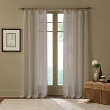 Brown Linen Curtains Buy 63 Linen Curtains From Bed Bath U0026 Beyond