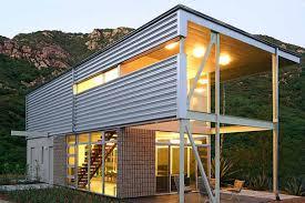modern steel frame home plans