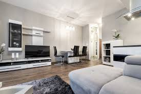 Open Concept Living Room by Open Concept Living Room With Fireplace Black Leather Sofa White