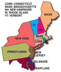 Map Of The States In The United States by Northeast Usa Wall Map Mapscom East Coast Of The United States