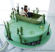 fishing cake groom u0027s cake with gumpaste figures this was my