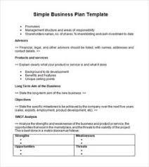 Business Template Plan by Business Templates Exles Business Plan Sle