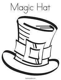 Magic Hat Coloring Page Twisty Noodle Coloring Page Of A Hat